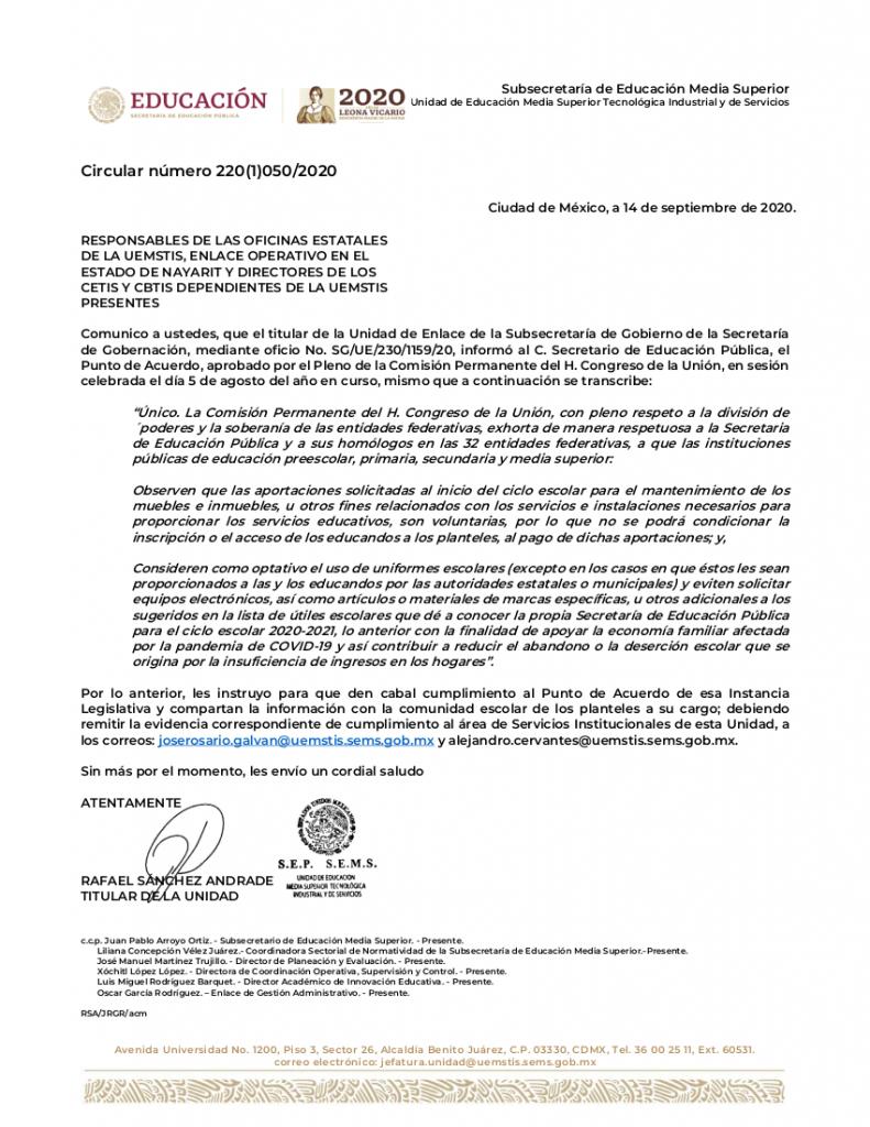 PUNTO DE ACUERDO-APORTACIONES VOLUNTARIAS